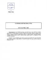 CONSEIL MUNICIPAL N° 11 DU 10 AVRIL 2015