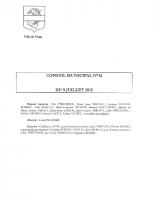 CONSEIL MUNICIPAL N° 12 DU 9 JUILLET 2015