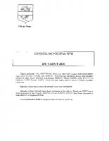 CONSEIL MUNICIPAL N° 13 DU 6 AOUT 2015