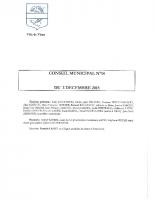 CONSEIL MUNICIPAL N° 14 DU 2 DECEMBRE 2015