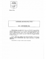CONSEIL MUNICIPAL N° 15 DU 3 FEVRIER 2016 – compresse