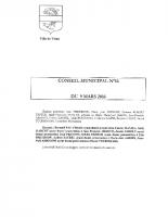 CONSEIL MUNICIPAL N° 16 DU 9 MARS 2016