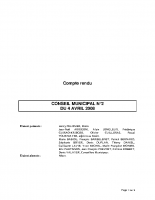 CONSEIL MUNICIPAL N° 2 DU 4 AVRIL 2008