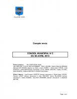 CONSEIL MUNICIPAL N° 2 DU 8 AVRIL 2014