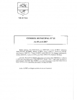 CONSEIL MUNICIPAL N° 23 DU 05 AVRIL 2017
