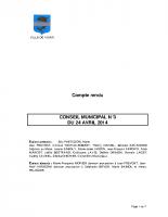 CONSEIL MUNICIPAL N° 3 DU 24 AVRIL 2014