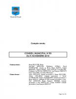 CONSEIL MUNICIPAL N° 30 DU 5 NOVEMBRE 2013