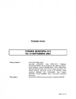 CONSEIL MUNICIPAL N° 5 DU 18 SEPTEMBRE 2008