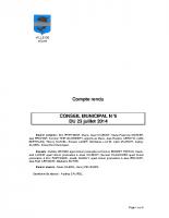 CONSEIL MUNICIPAL N° 6 DU 23 JUILLET 2014
