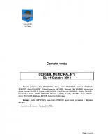 CONSEIL MUNICIPAL N° 7 DU 14 OCTOBRE 2014