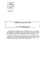 CONSEIL MUNICIPAL N° 9 DU 18 DECEMBRE 2014