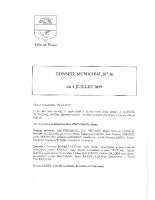 Compte-rendu n°36 du Conseil Municipal du 04-07-2019