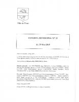 Compte rendu N°35 du CM du 29 mai 2019