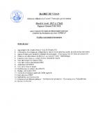 Conseil Municipal du 06 Avril