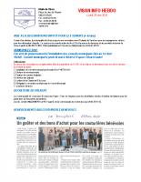 Visan info Lundi 25 mai 2020