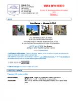 Visan info hebdo Semaine 1