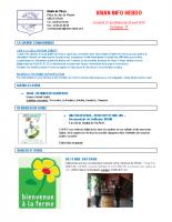 Visan info hebdo Semaine 17