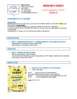 Visan info hebdo Semaine 19