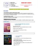 Visan info Hebdo Semaine 28