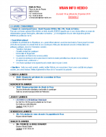 Visan info Semaine 3