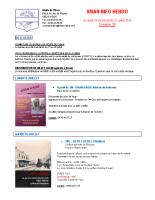 Visan info hebdo Semaine 29