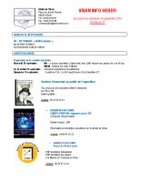 Visan info hebdo Semaine 37
