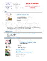 Visan info hebdo Semaine 43