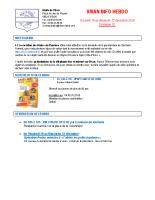 Visan info hebdo Semaine 51