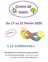 Affiche Centre de Loisirs Février 2020