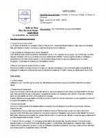 REUNION DE QUARTIERS 17 juin 2019 Le Couvent