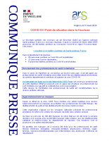 20200331_CP ARS PREF Bilan COVID 19 dans Vaucluse