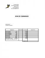 BON DE COMMANDE MIEL