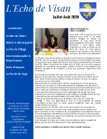 L'Echo de Visan 1 – Juillet-Août 2020_